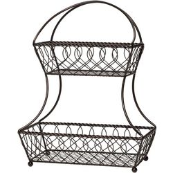 Gourmet Basics by Mikasa Lattice Two Tier Basket