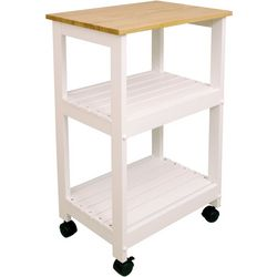 Catskill Craftsmen White Kitchen Cart