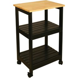 Catskill Craftsmen Black Kitchen Cart