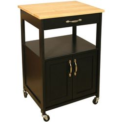 Catskill Craftsmen Black Kitchen Trolley