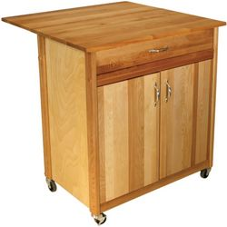 Catskill Two Door Drop Leaf Kitchen Cart