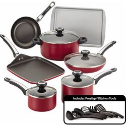 Farberware Performance Red 17-pc. Cookware Set