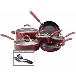 Farberware Millennium 12-pc. Red Cookware Set