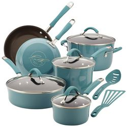 Rachael Ray 12-pc. Agave Blue Enamel Cookware Set