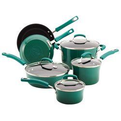 Rachael Ray 10-pc. Fennel Hard Enamel Cookware Set