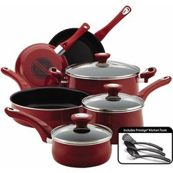 Farberware 12-pc. Speckled Red Cookware Set
