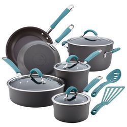 Rachael Ray Cucina Blue Handle 12-pc. Cookware Set