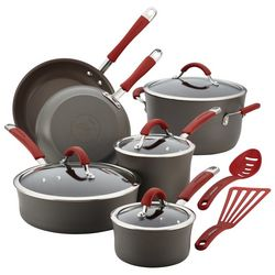 Rachael Ray Cucina Red Handle 12-pc. Cookware Set