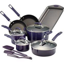 Rachael Ray 14-pc. Hard Porcelain Cookware Set