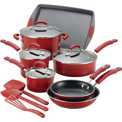 Rachael Ray 14-pc. Hard Porcelain Cookware Set