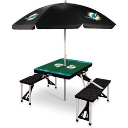 Miami Dolphins Picnic Table and Umbrella