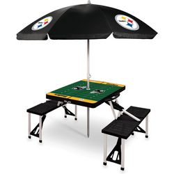 Pittsburgh Steelers Picnic Table and Umbrella