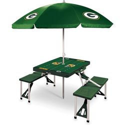 Green Bay Packers Picnic Table and Umbrella