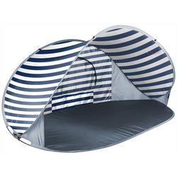 Manta Navy & White Stripe Portable Beach Tent