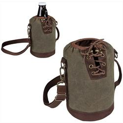 Insulated Canvas Growler Tote