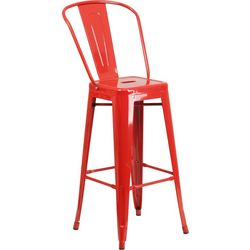 Flash Furniture 30'' Metal Barstool With Back