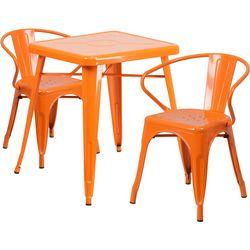 Flash Furniture 3-pc. Metal Arm Chair Table Set
