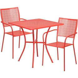 Flash Furniture 28'' Table & Square Back Chair Set