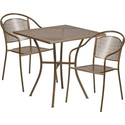 Flash Furniture 28'' Table & Round Back Chair Set