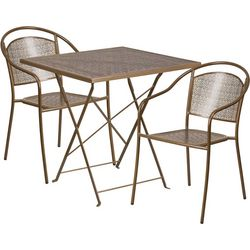 Flash Furniture Folding Table & Round Chair Set