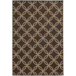 Tommy Bahama Seaside Brown Circles Area Rug