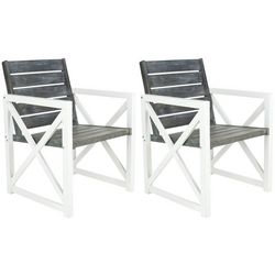 Safavieh Irina Ash Grey Armchair Set