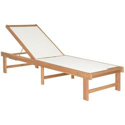 Safavieh Manteca Teak Lounge Chair