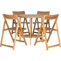 Safavieh 5-pc. Kerman Teak Patio Dining Set