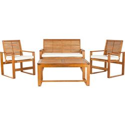 Safavieh Ozark 4-pc Patio Set With Natural Cusions