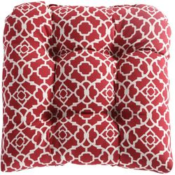 Waverly Lexie Red Trellis Outdoor Dining Chair Cushion