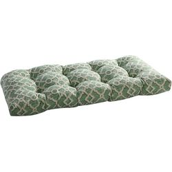 Waverly Lexie Green Trellis Outdoor Bench Cushion