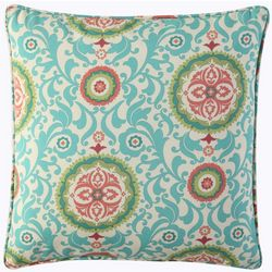 Waverly Lexie Medallion Square Outdoor Throw Pillow