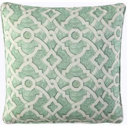 Waverly Lexie Green Trellis Square Outdoor Throw Pillow