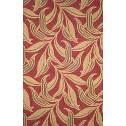 Liora Manne Ravella Red Leaf Indoor/Outdoor Area Rug