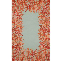 Liora Manne Spello Orange Coral Border Area Rug