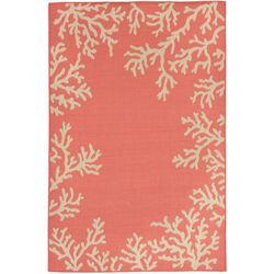 Liora Manne Terrace Coral Border Indoor/Outdoor Area Rug