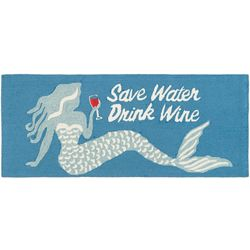 Liora Manne Frontporch Save Water Drink Wine Accent Rug