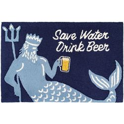 Liora Manne Frontporch Save Water Drink Beer Accent Rug