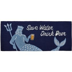 Liora Manne Frontporch Save Water Drink Beer Accent Rug