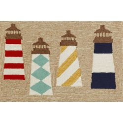 Liora Manne Frontporch Lighthouses Accent Rug