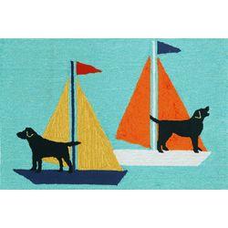 Liora Manne Frontporch Sailing Dogs Accent Rug