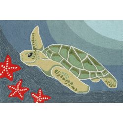 Liora Manne Frontporch Sea Turtle Accent Rug