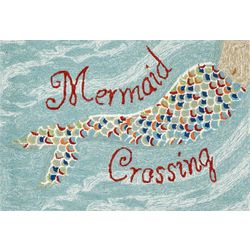 Liora Manne Frontporch Mermaid Crossing Accent Rug