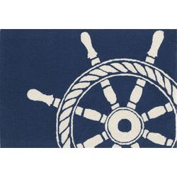 Liora Manne Frontporch Ship Wheel Accent Rug