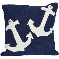 Liora Manne Frontporch Anchors Square Pillow