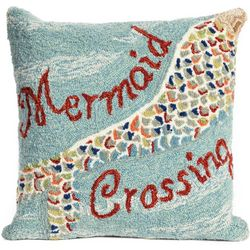 Liora Manne Frontporch Mermaid Crossing Pillow