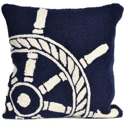 Liora Manne Frontporch Ship Wheel Square Pillow