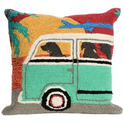 Liora Manne Frontporch Beach Trip Square Pillow