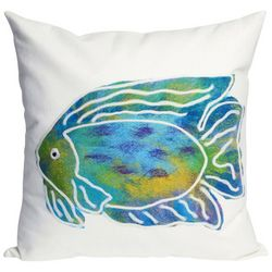 Liora Manne Visions II Batik Fish Square Pillow