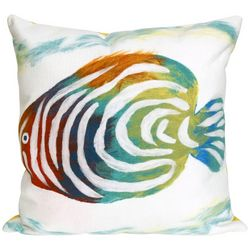 Liora Manne Visions III Rainbow Fish Square Pillow